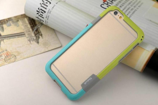 Bridge94 iPhone 6 Plus / Plus S Bumper, grün-blau