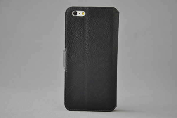 Bridge94 iPhone 6 Plus / Plus S PU-Leder-Wallet - glanz strukurierte Oberfläche, schwarz