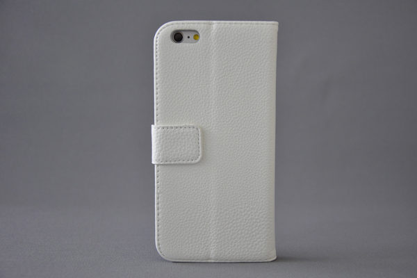 Bridge94 iPhone 6 Plus/6 Plus S PU-Leder-Wallet -strukurierte Oberfläche, weiss