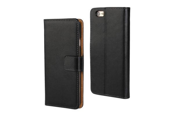 Bridge94 iPhone 6 Plus / Plus S PU-Leder-Case glatte Oberfläche, schwarz