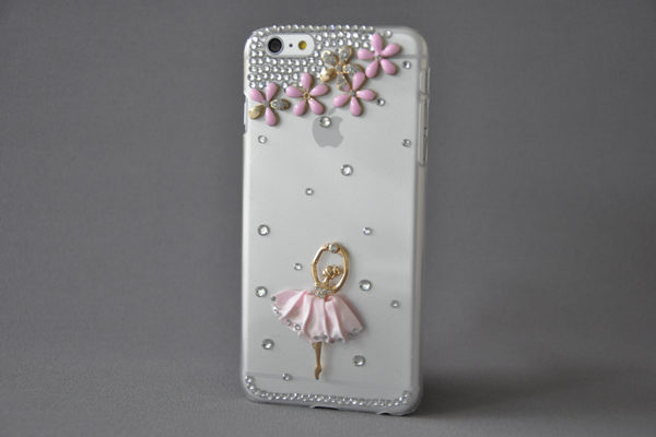 Bridge94 iPhone 6 Plus/6 Plus S Back-Cover mit Kristallen und Ballerina