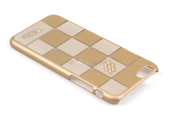 Bridge94 iPhone 6/6S Back-Cover inkl. Kristall für Kopfhörerbuchse, gold Quadrate