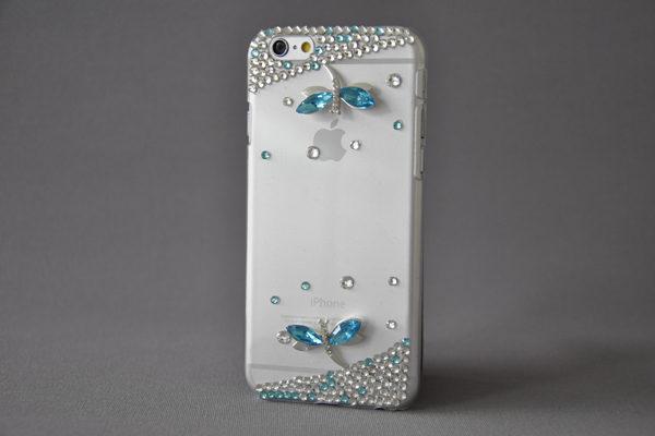 Bridge94 iPhone 6/6S Back-Cover transparent mit Kristallen SCHMETTERLING