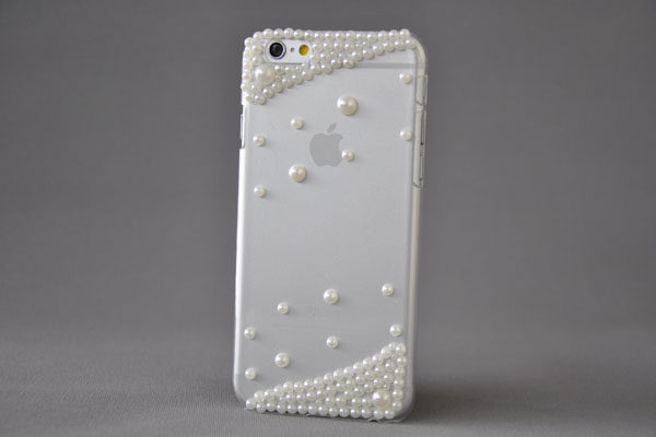 Bridge94 iPhone 6/6S Back-Cover transparent mit Kristallen KLAR