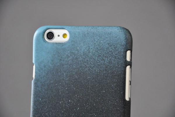 Bridge94 iPhone 6 Plus / Plus S Back-Cover HANDMADE, schwarz-blau-weiss