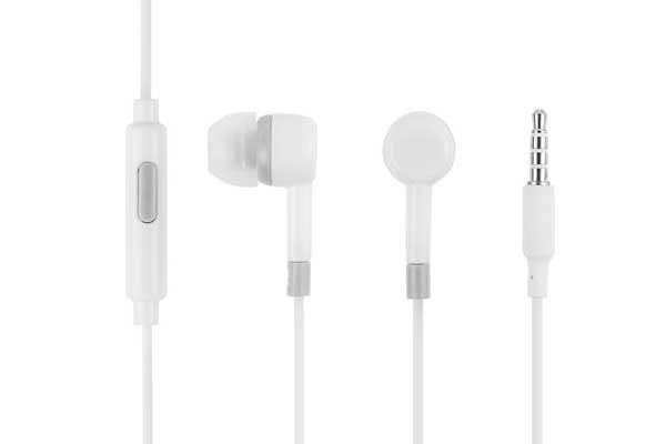 Bridge94 Stereo In-Ear Kopfhörer 3.5 mm mit Mikrofon, weiss