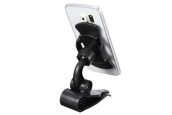 Bridge94 Auto-Smartphone-Halterung mit Hafthalter für iPhone 4/5/6/6S/7/7 Plus uvm., schwarz