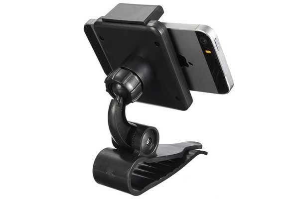 Bridge94 Auto-Smartphone-Halterung mit Klemme für iPhone 4/5/SE/6/6/7 uvm., schwarz