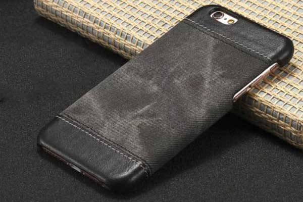 Bridge94 iPhone 7 Hard-Back-Cover Denim, schwarz