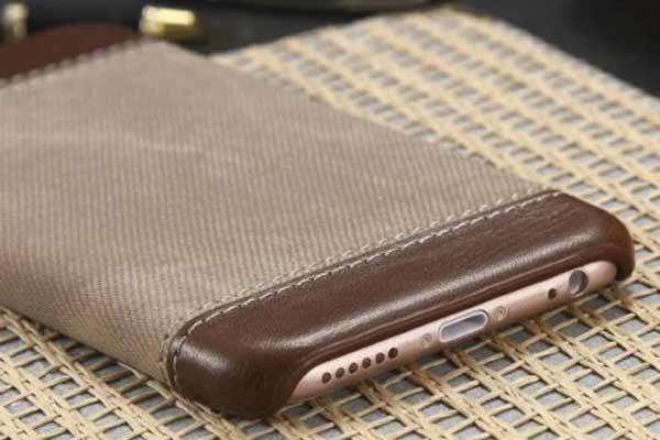 Bridge94 iPhone 7 Hard-Back-Cover Denim, braun