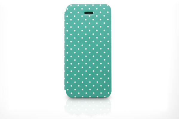 Kajsa iPhone 5/5S/SE Flip-Case °Neon Collection Multi Angle° aus syntetischem Leder, grün