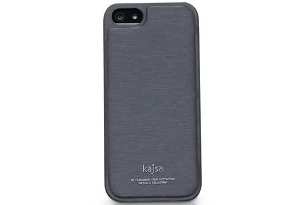 Kajsa iPhone 5/5S/SE Back-Cover °Metallic Collection°, antrazit