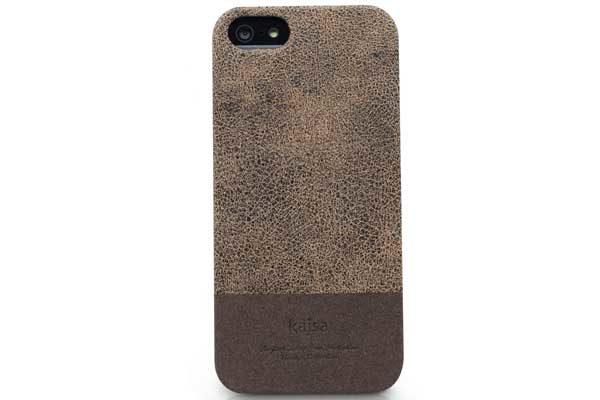 Kajsa iPhone 5/5S/SE Echtleder-Back-Cover °Vintage Collection°, braun
