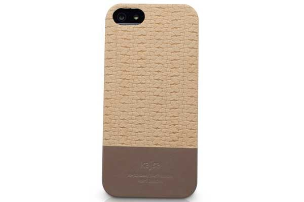 Kajsa iPhone 5/5S/SE Echtleder-Back-Cover °Resort Collection°, Sand