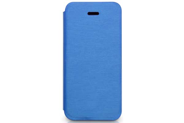 Kajsa iPhone 5/5S/SE Flip-Case °Metallic Collection°, blau