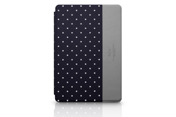Kajsa iPad Mini/Mini 2 PU-Leder Case °Neon Collection Dot°, schwarz