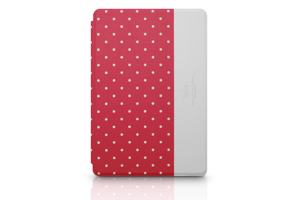Kajsa iPad Mini/Mini 2 PU-Leder Case °Neon Collection Dot°, rot