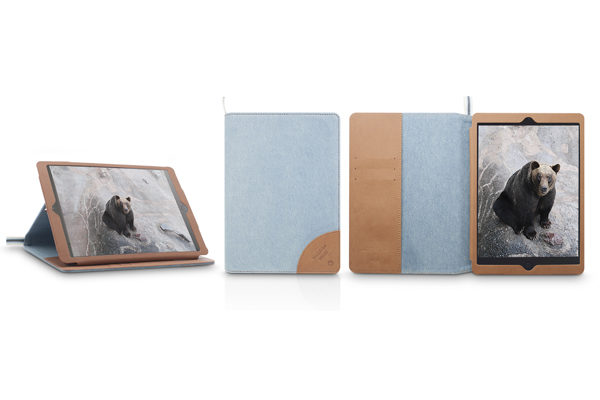 Kajsa iPad Mini / Mini 2 Flip-Case °Denim Collection°, grau