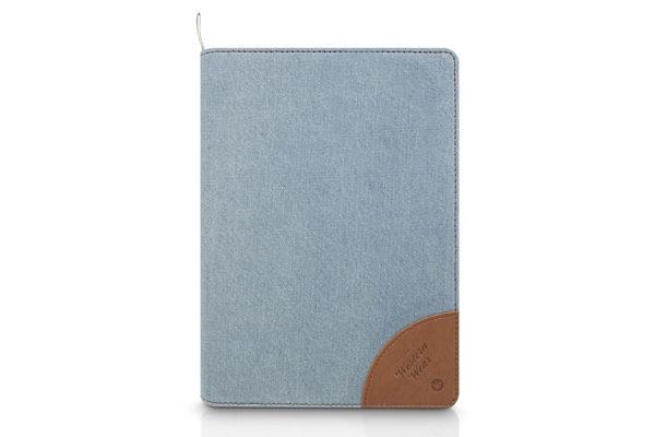 Kajsa iPad Mini / Mini 2 Flip-Case °Denim Collection°, hellblau