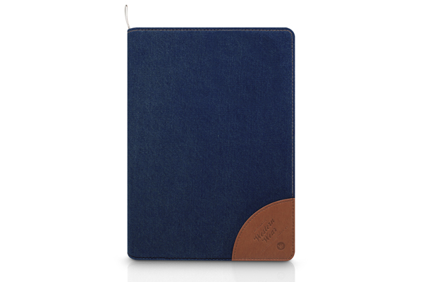 Kajsa iPad Mini / Mini 2 Flip-Case °Denim Collection°, dunkelblau