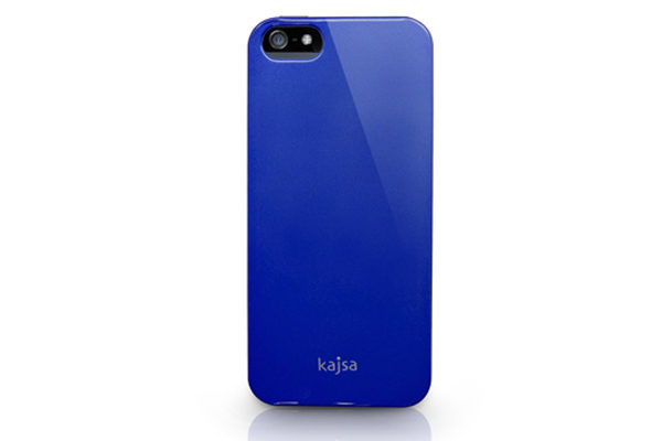 Kajsa iPhone 5/5S/SE Hardshell-Back-Cover °Metallic Colorful Collection°, dunkelblau