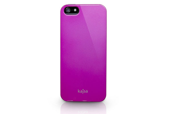 Kajsa iPhone 5/5S/SE Hardshell-Back-Cover °Metallic Colorful Collection°, pink