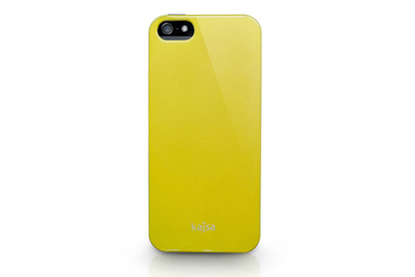 Kajsa iPhone 5/5S/SE Hardshell-Back-Cover °Metallic Colorful Collection°, gelb