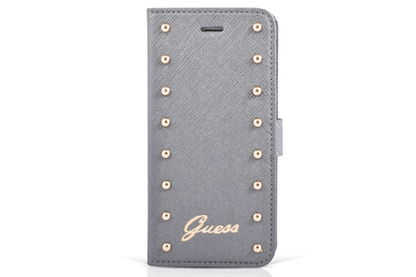 GUESS iPhone 6 Plus/6 Plus S Booktype-Case, silber