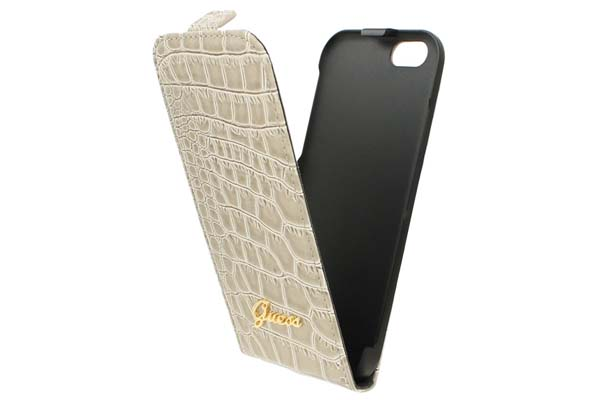 GUESS iPhone 6/6S Flip-Case CROCODILE COLLECTION, beige