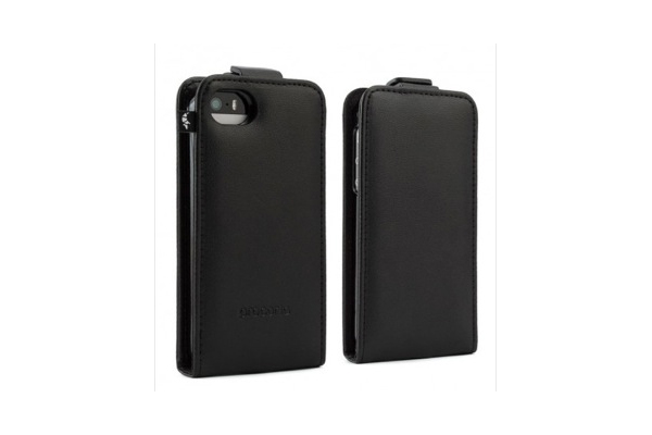 Proporta Leather Style Case mit Tray für iPhone 5/5S/SE, schwarz