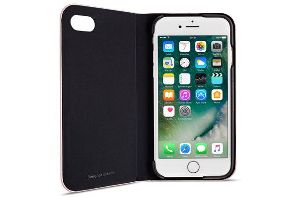 Artwizz SeeJacket Folio - Hochwertiges Folio mit Standfunktion und Magnetverschluss für iPhone 7, Rose Gold