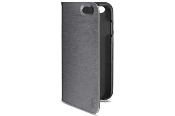 Artwizz SeeJacket Folio - Hochwertiges Folio mit Standfunktion und Magnetverschluss für iPhone 7, anthrazit