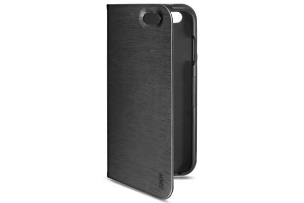 Artwizz SeeJacket Folio - Hochwertiges Folio mit Standfunktion und Magnetverschluss für iPhone 7, schwarz