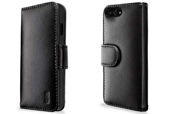 Artwizz SeeJacket Leather - Feinstes Lederetui mit Magnetverschluss für iPhone 7 Plus, schwarz