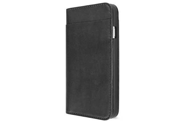 Artwizz Wallet - Lederetui mit Kreditkartenfächern für iPhone 7, schwarz
