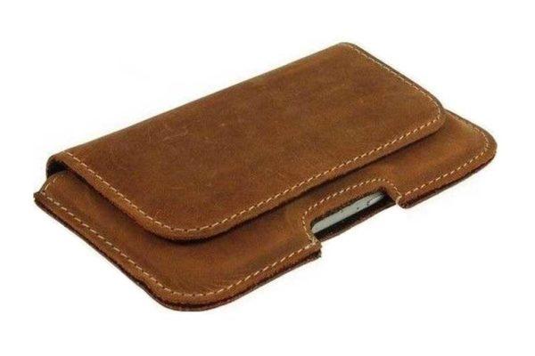Bridge94 iPhone 6/6S/7 Echtleder-Gürtelholster-Tasche, braun