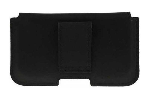 Bridge94 iPhone 6/6S/7 Echtleder-Gürtelholster-Tasche, schwarz