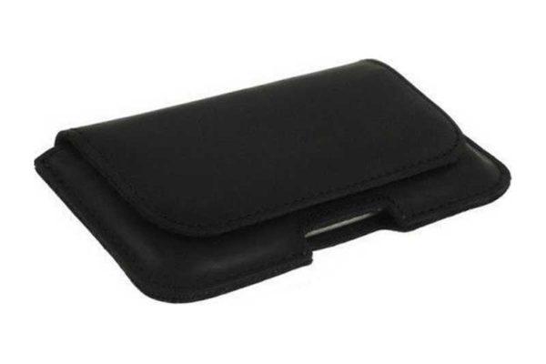 Bridge94 iPhone 6 Plus/6S Plus/7 Plus Echtleder-Gürtelholster-Tasche, schwarz