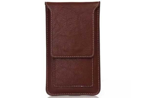 Bridge94 iPhone 6 Plus/6S Plus/7 Plus/X/Xs Gürtel-Holster-Tasche mit Kreditkarten-Fächern vertikal, braun 1