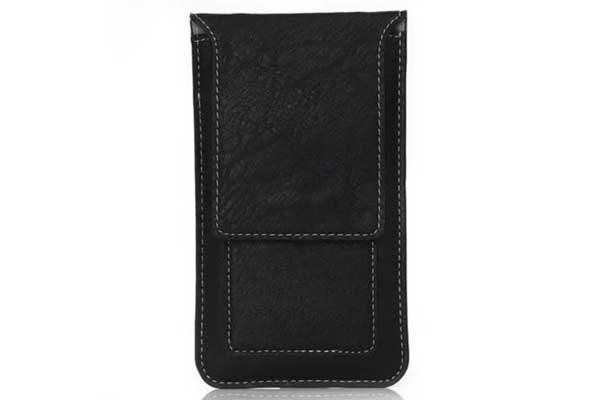 Bridge94 iPhone 6 Plus/6S Plus/7 Plus/X/Xs Gürtel-Holster-Tasche mit Kreditkarten-Fächern vertikal, schwarz 1