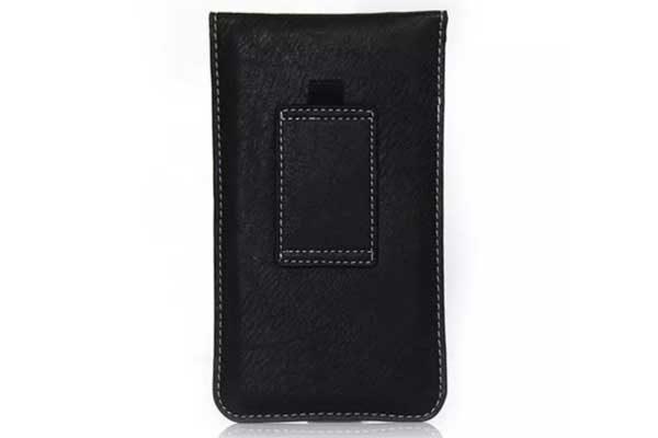 Bridge94 iPhone 6 Plus/6S Plus/7 Plus Gürtel-Holster-Tasche mit Kreditkarten-Fächern vertikal, schwarz
