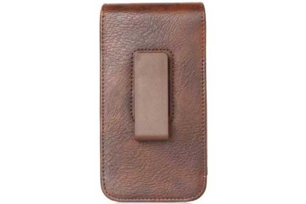 Bridge94 iPhone 6 Plus/6S Plus/7 Plus Gürtel-Holster-Tasche vertikal mit 2 Kreditkartenfächern, braun strukturiert