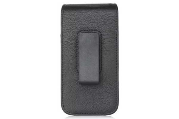 Bridge94 iPhone 6 Plus/6S Plus/7 Plus Gürtel-Holster-Tasche vertikal mit 2 Kreditkartenfächern, schwarz strukturiert