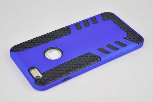 Bridge94 iPhone 6 Plus / 6 Plus S Shockproof-Back-Cover, dunkelblau