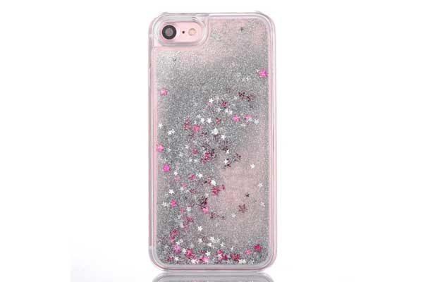 Bridge94 iPhone 7 Backcover 3D mit Glitzer und pinken Sternen