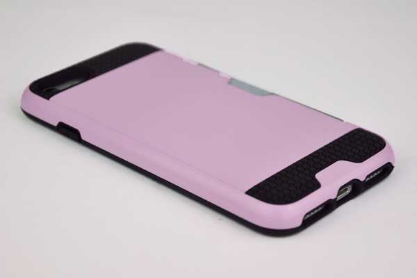 Bridge94 iPhone 7 Shockproof Hybrid-Hard-Case mit Kreditkartenhalter, rosa