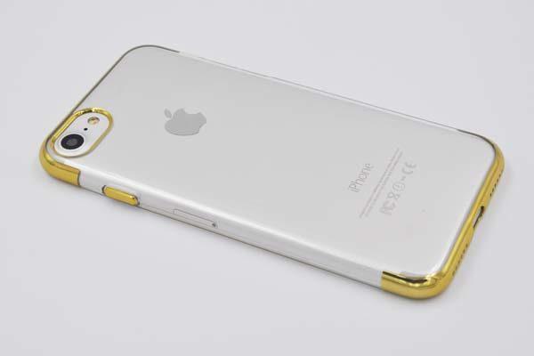 Bridge94 iPhone 7 TPU-Backcover mit goldenem Rahmen und goldenem Kamerarahmen