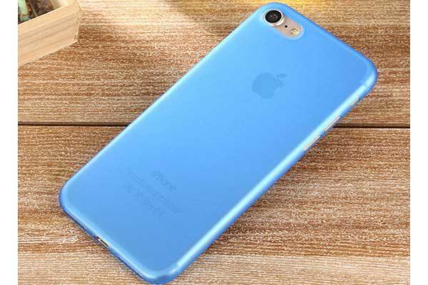 Bridge94 iPhone 7 Ultradünnes TPU Backcover, blau