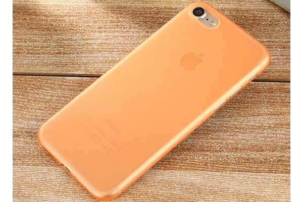 Bridge94 iPhone 7 Ultradünnes TPU Backcover, orange
