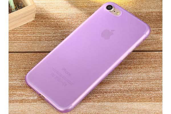 Bridge94 iPhone 7 Ultradünnes TPU Backcover, violett